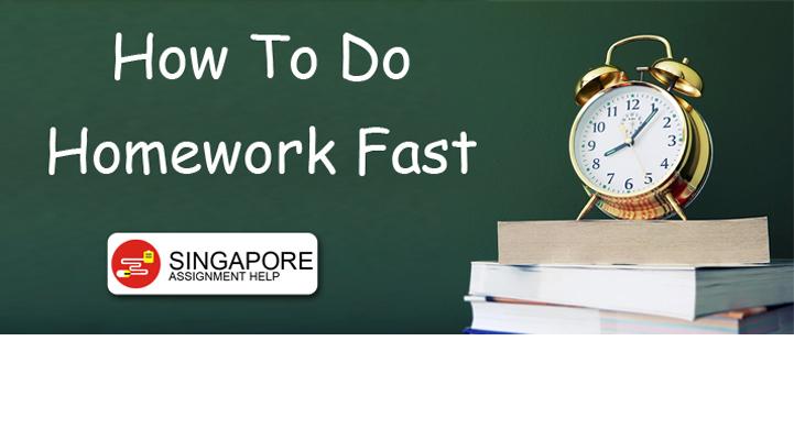 How To Do Homework Fast