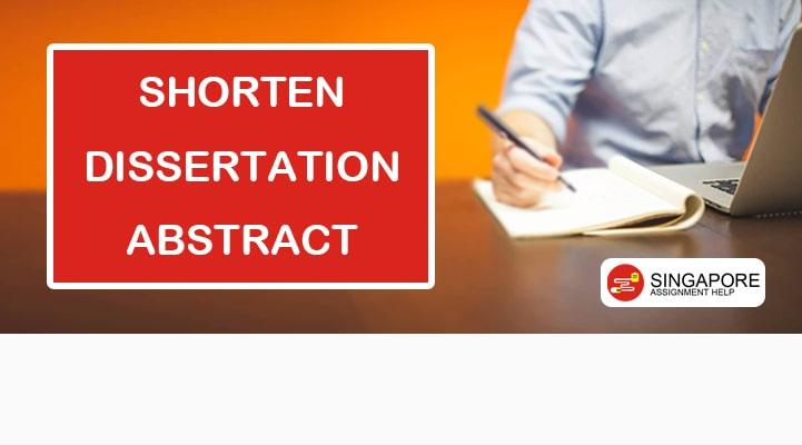 Shorten Dissertation Abstract